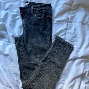 Levi's 710 Super Skinny Black Speckled Jeans-Sz 28